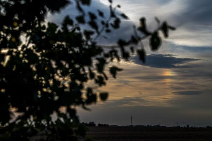 Melléknap, más néven naphalo jelenség Debrecen határából