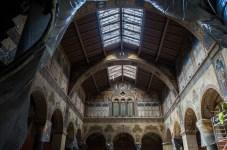 Budapest, 2017. július 3. A Szépmûvészeti Múzeum felújítás alatt álló Román csarnoka 2017. július 3-án. A múzeumot átfogó rekonstrukciója után, 2018 õszén veheti ismét birtokba a közönség. MTI Fotó: Kallos Bea