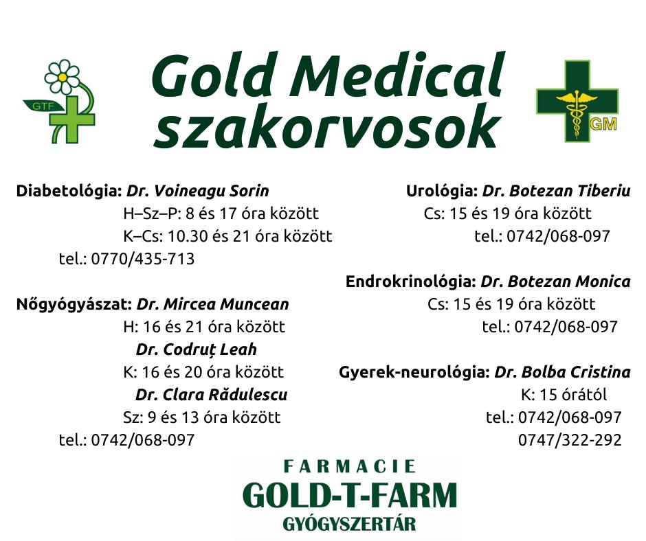 A Gold Medical szakorvosai (1)