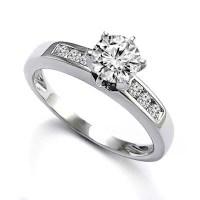 Anzor Jewelry - 18k White Gold Diamond Solitaire ...