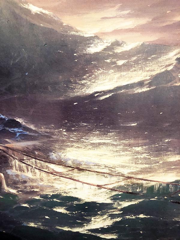 絵画の波のアップ