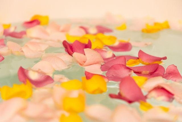 花びらのお風呂