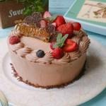 生チョコケーキ デコレーション