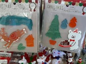 セリア クリスマス ステッカー
