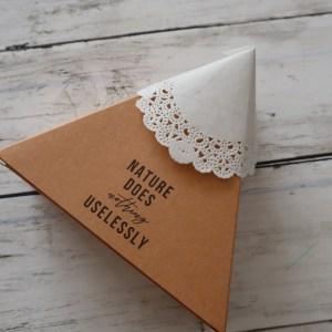 ガトーショコラ ラッピング 三角