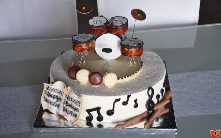 Drums Set Birthday Cake