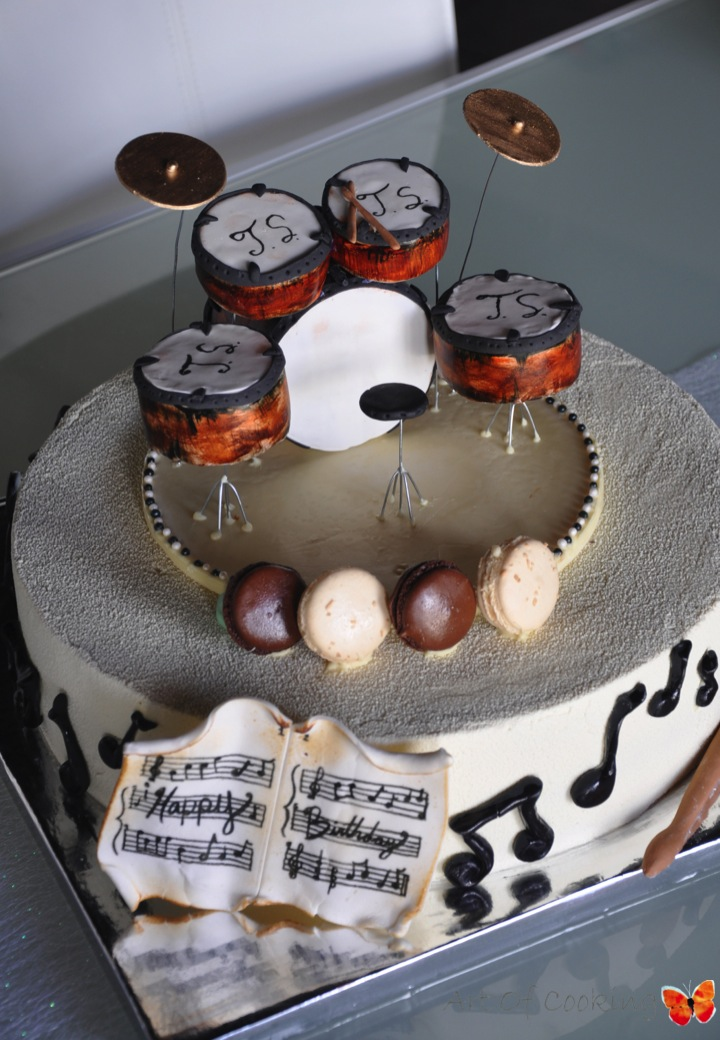 Drums Set Birthday Cake Exceptional Corporate Catering Services