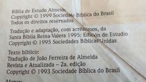 BÍBLIA JFA RA