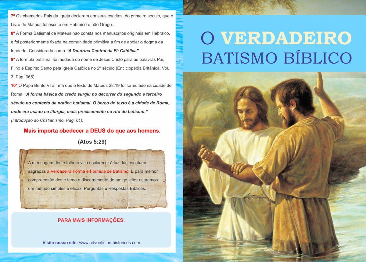 Batismo Verdadeiro à luz das Escrituras Sagradas