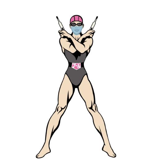 プールマスクマンPINKの画像