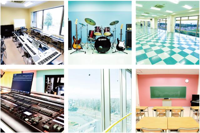 日本芸術高等学園の内観や教室