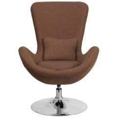 Round Base Chair Vanity Chairs Canada Egg Series Lounge With In Brown Modern Office