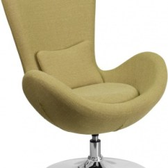 Round Base Chair Chairs For Desks With Wheels Egg Series Lounge In Green Atlanta Office