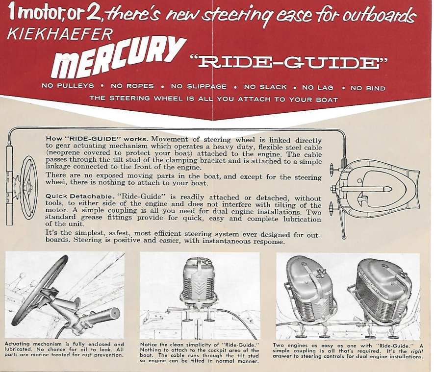 Early to Mid 50's Mercury Outboards-Quicksilver Ride Glide