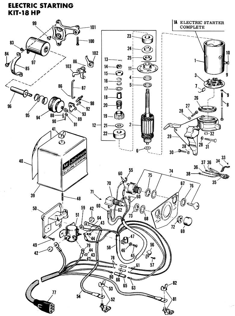 1959 Evinrude 18hp Electric Start