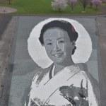 青森・田舎館村「石のアート2018」今年は故・美空ひばりさん!