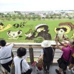 青森「田舎館村田んぼアート2018」手塚漫画の世界見ごろ迎える!