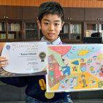 夢の技術「折り紙電池」描いて世界最高賞=十和田市南小学校5年生