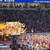 青森・ねぶた堂々 新国立競技場のお披露目で出陣!