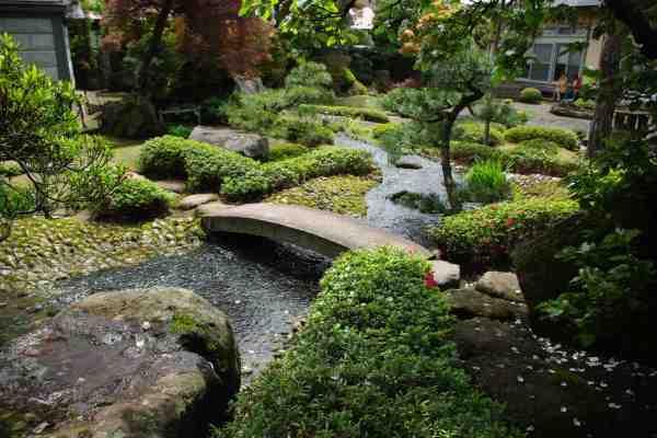 japanese garden and kura storage