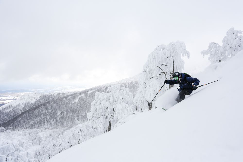 Kenji Boekholt in the backcountry. Photo by Dan Power.