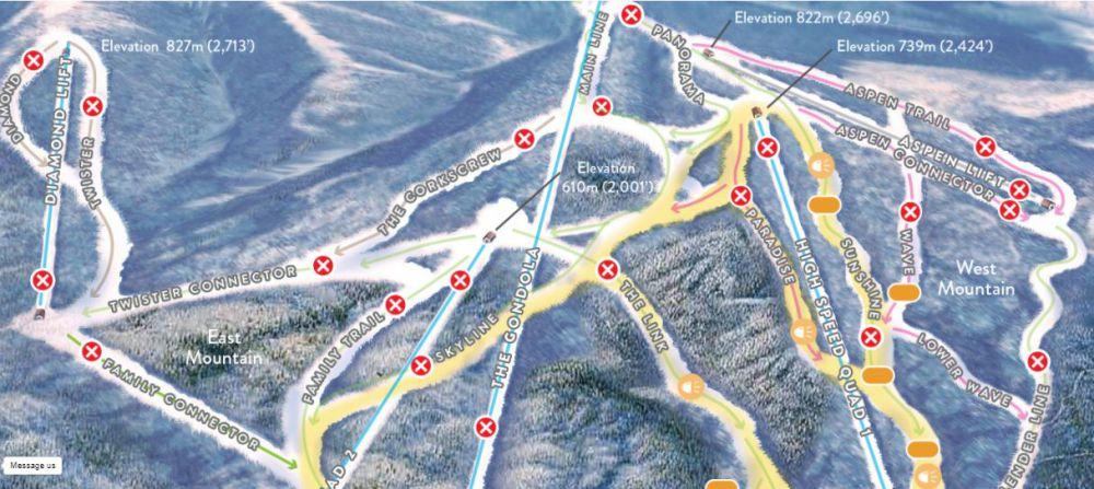 Aomori Spring Live Trail Map