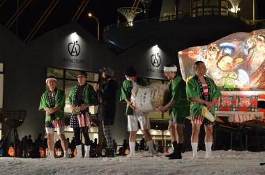 The winning team receives their congratulations