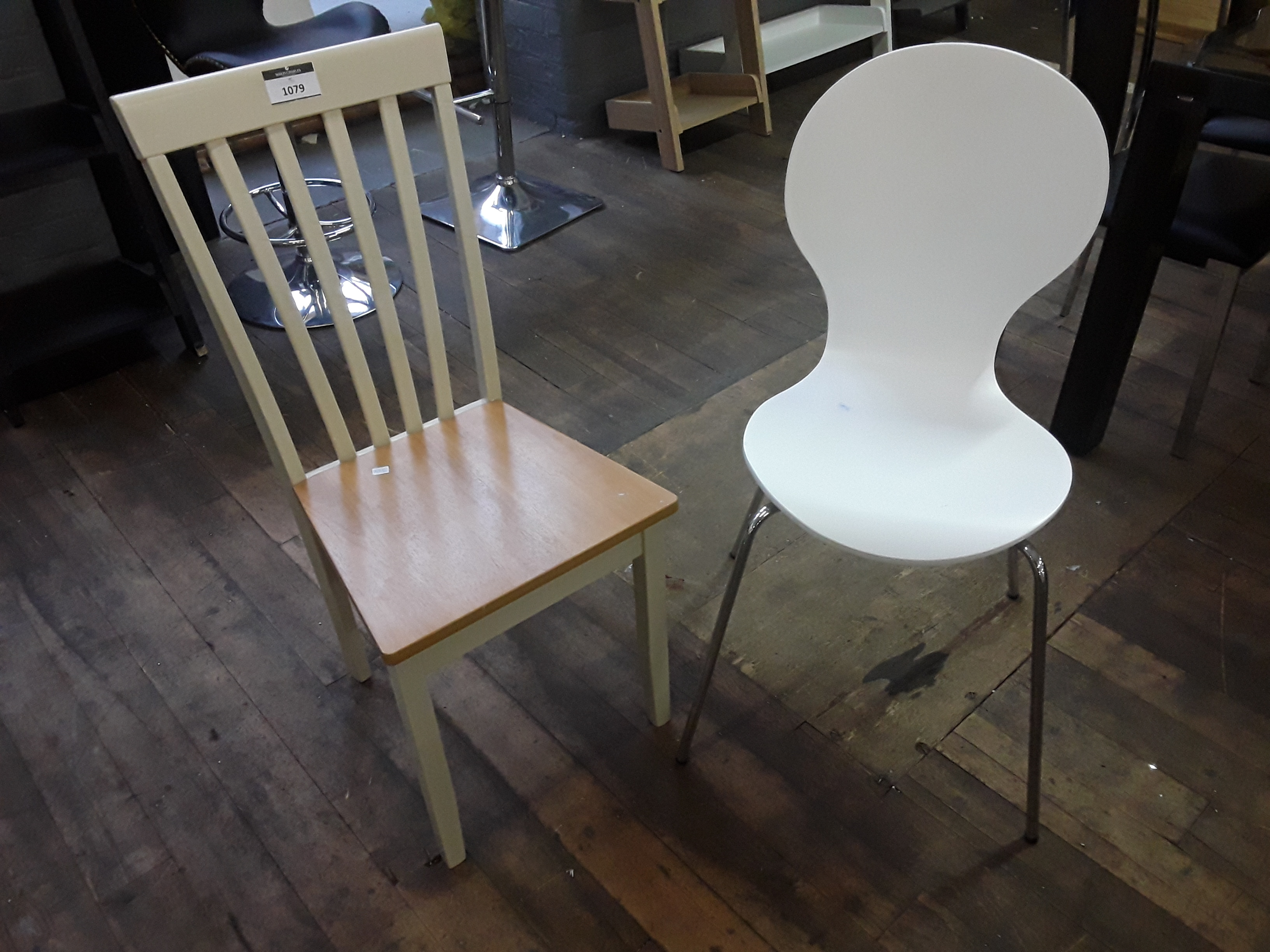 Mismatched Dining Chairs Pair Of Mismatched Dining Chairs Including White Plastic