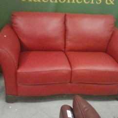 Red Leather Two Seater Sofa Memory Foam Bed Mattress Full Quality Graded Italian 3 And 2