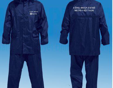 Đặt áo mưa in logo công đoàn