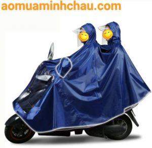ao mua di xe máy 2 đầu