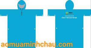 áo mưa liền thân in logo