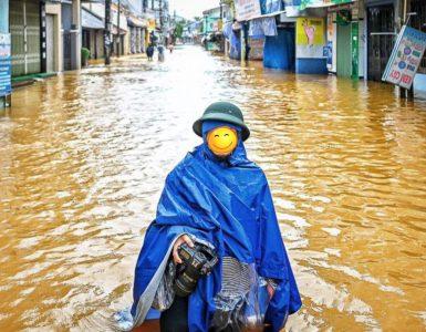 Áo mưa địa phương phòng chống bão lũ