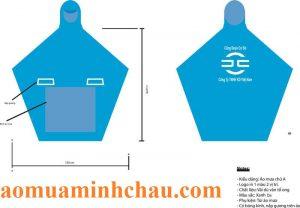 Áo mưa vải dù in logo công ty