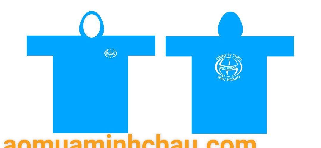 Đặt áo mưa vải dù in logo công ty