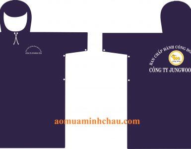 Áo mưa in logo công ty
