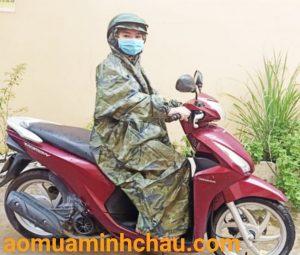 áo mưa đi xe máy quân đội