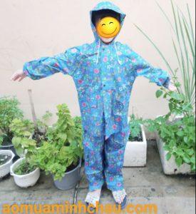 áo mưa trẻ em vải dù siêu nhẹ