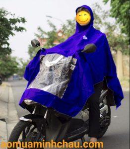 áo áo mưa quây vải dù siêu nhẹ