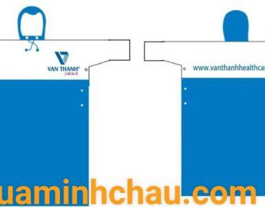 Áo mưa vải dù in ấn logo thương hiệu