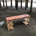 【DIY】コーナンの3段ラックでお手軽アウトドアテーブル作成