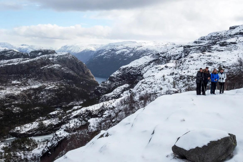 Preikestolen, Noruega: Última parada em meio a descida