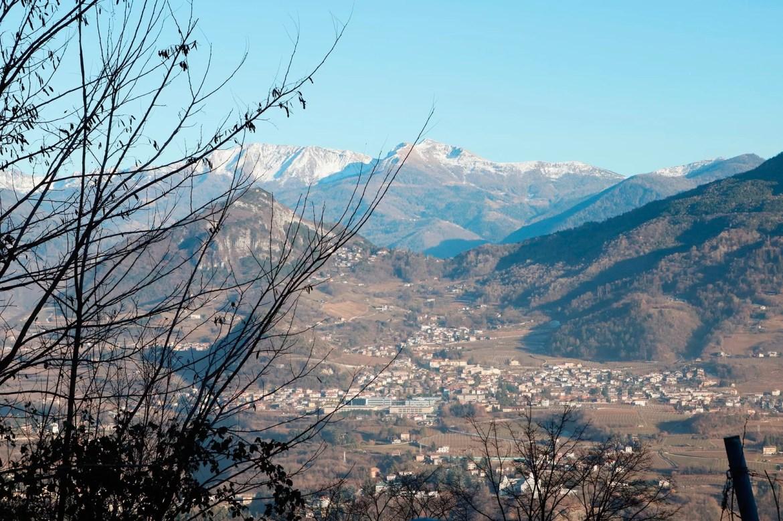Vista do bonde em Trento