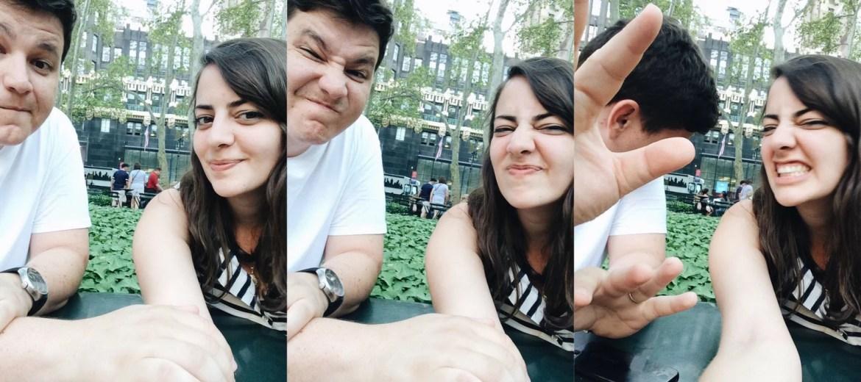 Eu e a Flora em Nova York