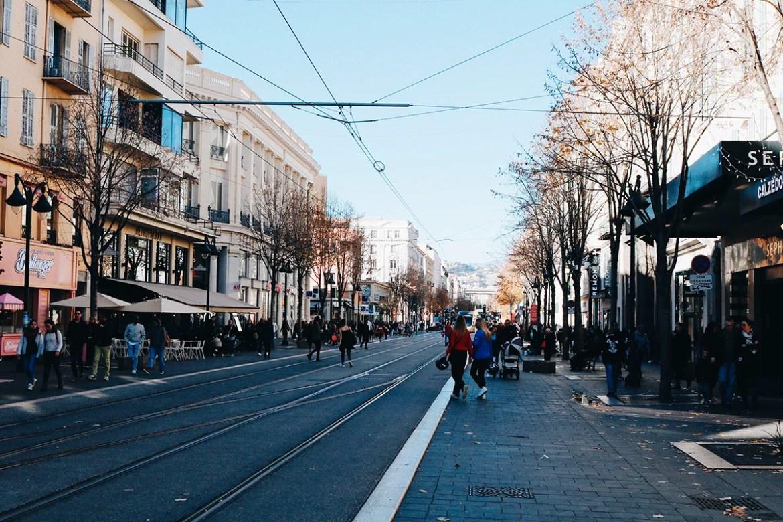 As ruas de Nice