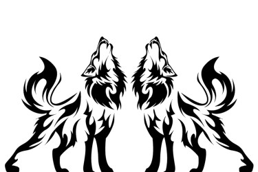 wolf howling silhouette wolves tribal clipart face cool drawing step drawings clip story sitting easy sad pencil clipartmag visuals vist