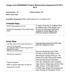 Grade 8 Design Cycle Worksheets Examples   Aaron Ong's XS Blog [ 800 x 1280 Pixel ]