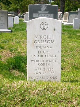 The headstone of Virgil I. Grissom at Arlington National Cemetery, Washington DC.