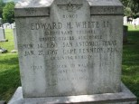 The memorial headstone for Edward H. White II.