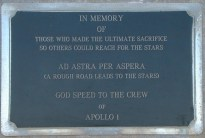 Memorial plaque at Launch Complex 34. Image courtesy of NASA. Retrieved from NASA 29/01/2014.